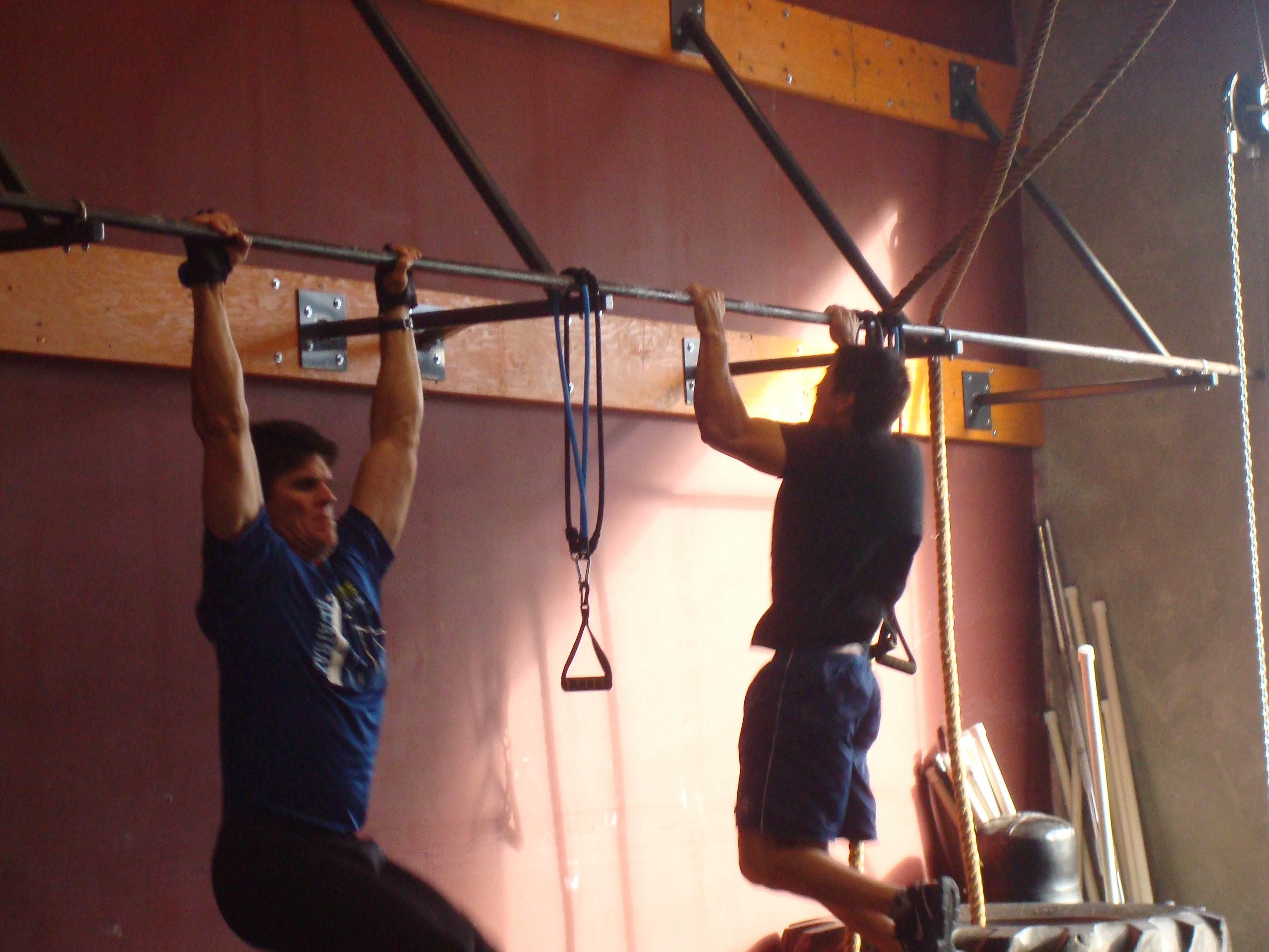 kalei and marco doing 100 pull ups of angie crossfit force