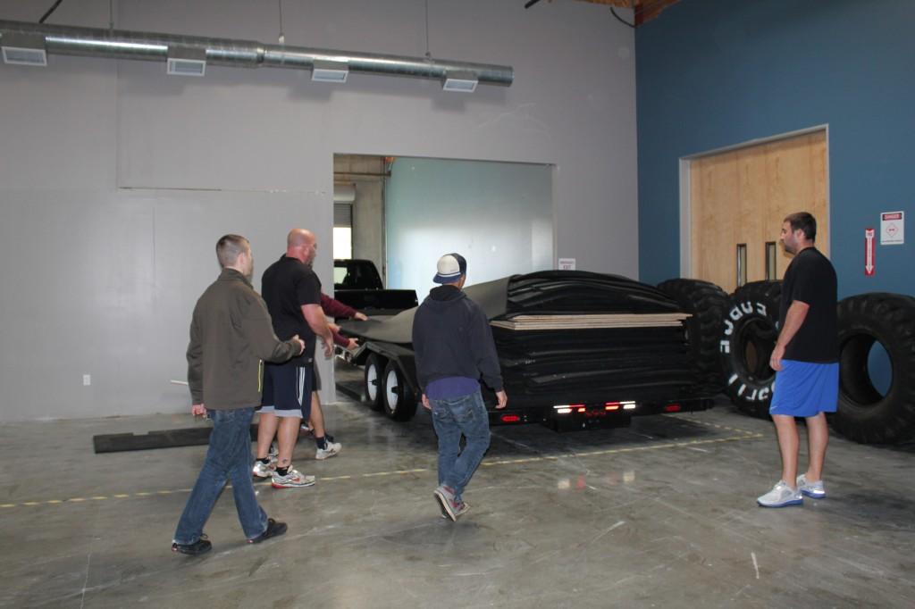Unloading the Mats