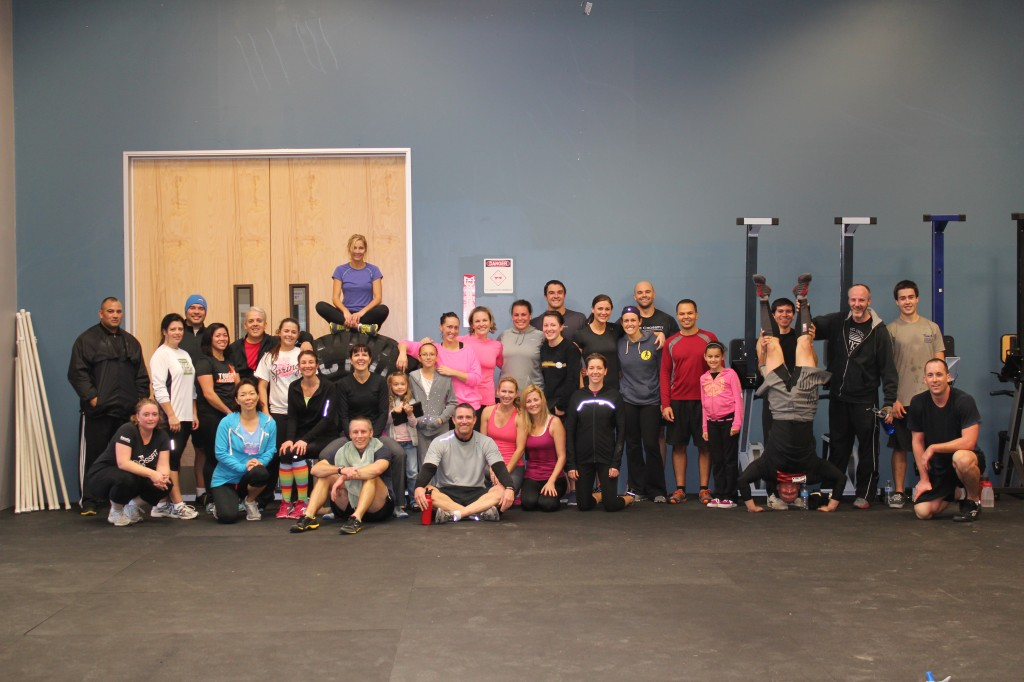 The whole gang after the WOD