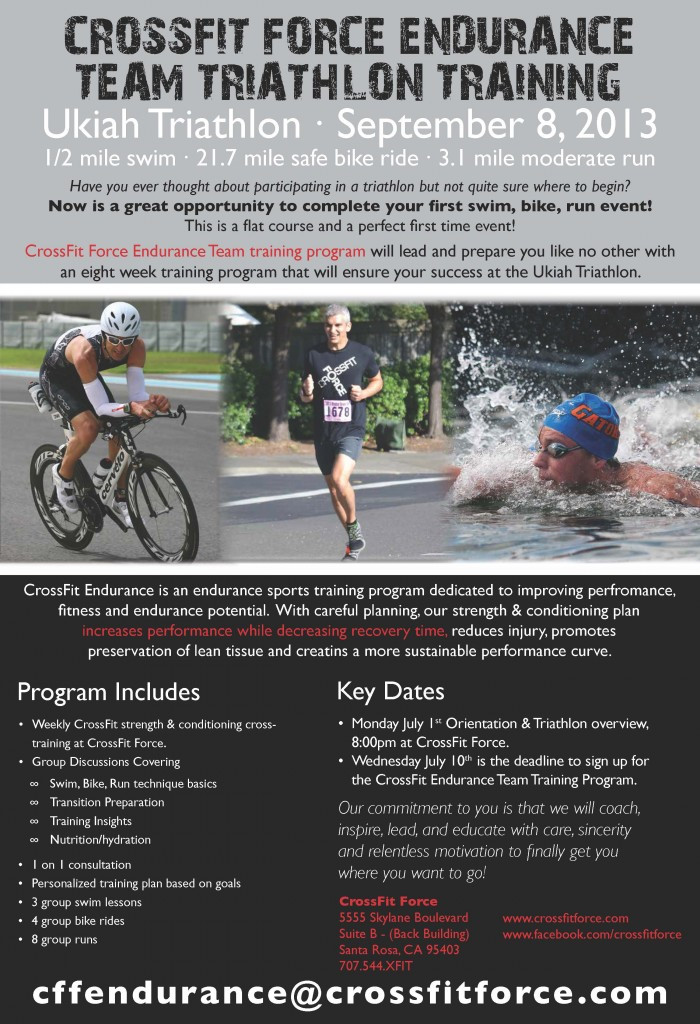 CFF Endurance Ukiah Tri Training Program