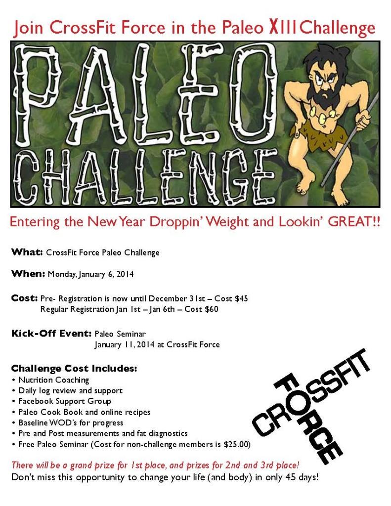 CFF Paleo Challenge XIII